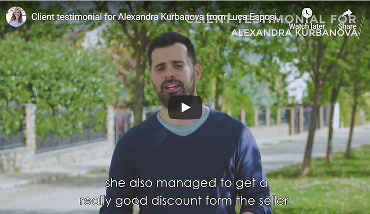 Testimonials for Alexandra Kurbanova, re