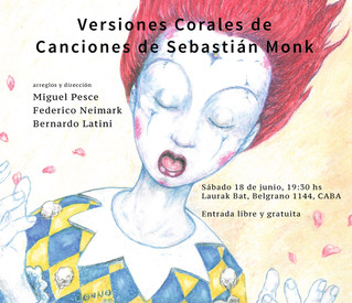 """Concierto - Presentación del libro """"Versiones Corales de Canciones de Sebastián Monk"""""""