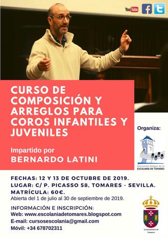 CURSO DE COMPOSICIÓN Y ARREGLOS PARA COROS INFANTILES Y JUVENILES