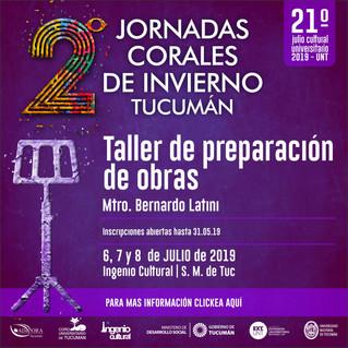 Curso de Dirección Coral - Taller de Preparación de obras corales. Tucumán