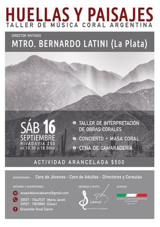 Taller de Música Coral Argentina. Bell Ville, Córdoba.