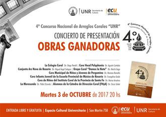 """4º Concurso Nacional de Arreglos Corales """"UNR"""", Rosario."""