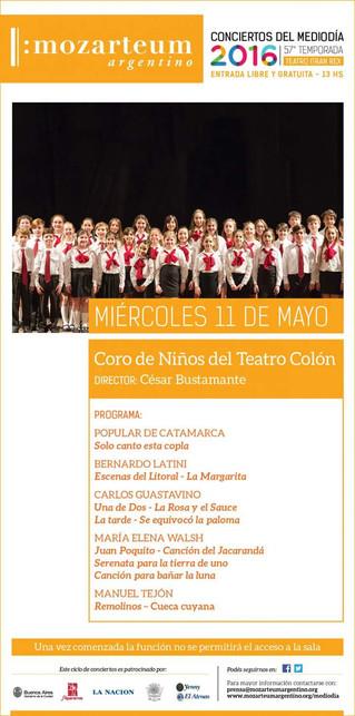 Coro de Niños del Teatro Colón