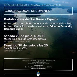 """""""Postales al Sur del Río Bravo"""". Directores Invitados y Versiones Corales: Eduardo Ferraud"""