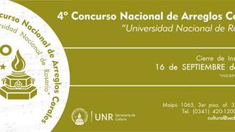 """3 Obras Premiadas 4º Concurso Nacional de Arreglos Corales """"Universidad Nacional de Rosario&quo"""