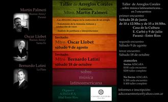 Taller de arreglos corales sobre música latinoamericana.