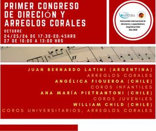 PRIMER CONGRESO DE DIRECCIÓN Y ARREGLOS CORALES