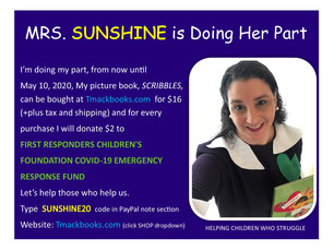 MRS. SUNSHINE & SCRIBBLES WANT TO HELP WITH COVID-19