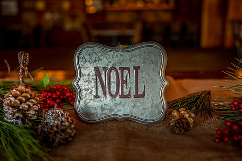 Noel Tin Sign