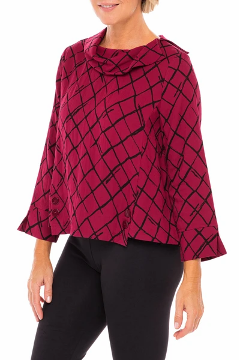 Express Traveler Drape Collar Pullover