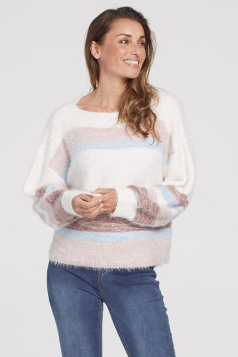 Tribal Boatneck Sweater