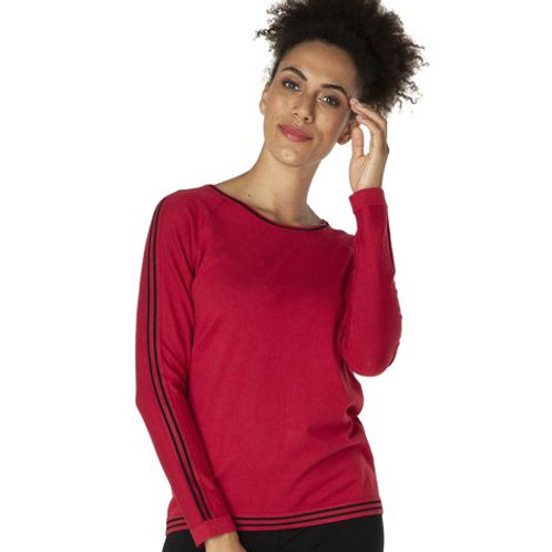 Tango Red Knit Top