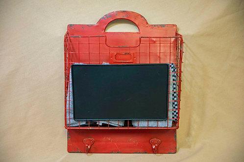 Metal Hanging File Bin w/chalk board