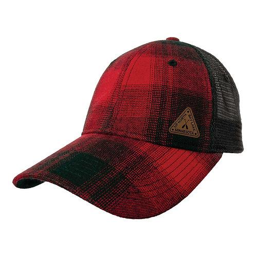 Bay Lake Red/Black Plaid Trucker