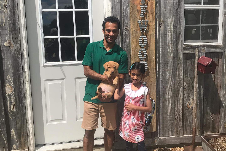Austin joins the Chari Family