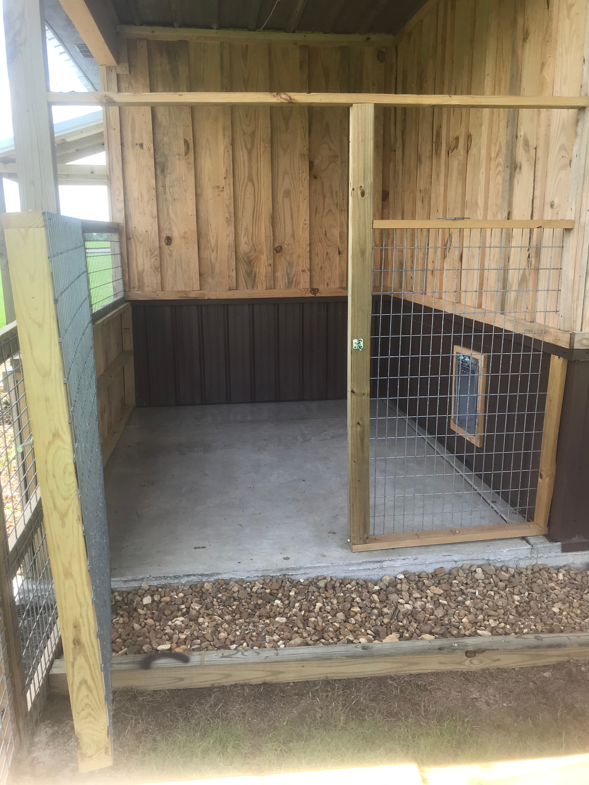 Outside kennel space