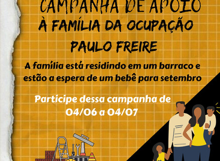 Apoio à família da Ocupação Paulo Freire