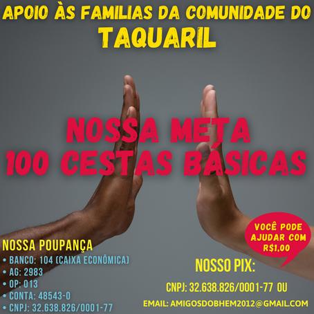 Missão Maio - Apoio às Familias da Comunidade de Taquaril