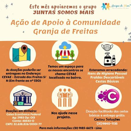 *MISSÃO DE JULHO – VAMOS AJUDAR AS MÃES DA COMUNIDADE GRANJA DE FREITAS*