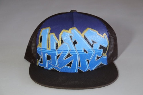 """Hype"" Graffiti on a Brown Trucker Hat"