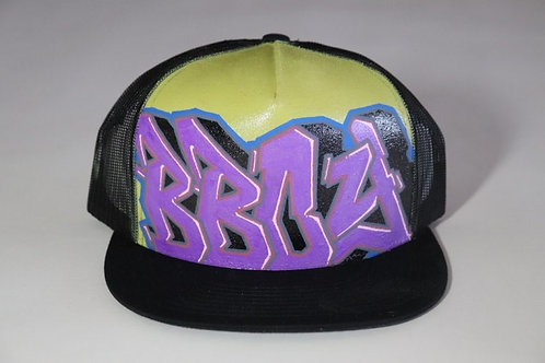 """BBoy"" Graffiti on a Black Trucker Hat"