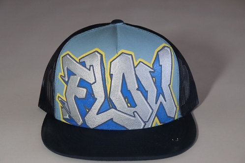 """""""Flow"""" Graffiti on a Navy Trucker Hat"""