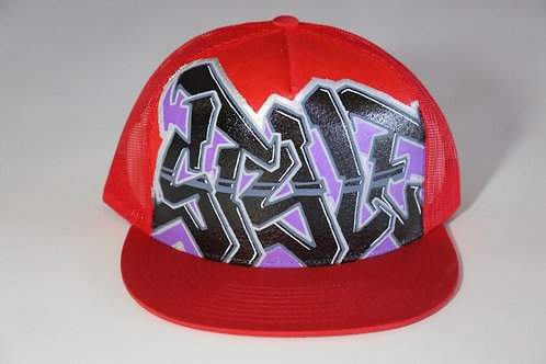 """Style"" Graffiti on Red Trucker Hat"