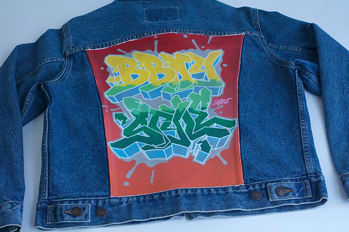 Bboy Style Large Denim Jacket