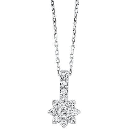 14K White Gold 1/3 ctw Diamond Pendant
