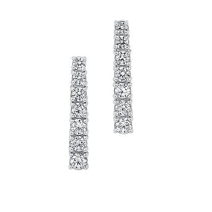 14K White Gold 1/3 ctw Diamond Fashion Earrings