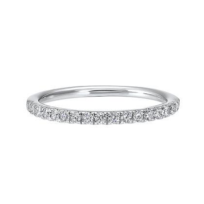 14K White Gold Diamond Wedding Band 1/4ctw