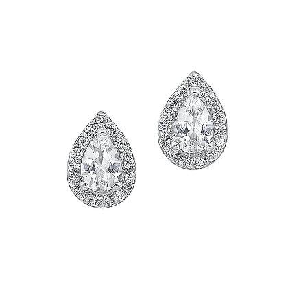 14K White Gold 5/8 ctw Diamond Fashion Earrings