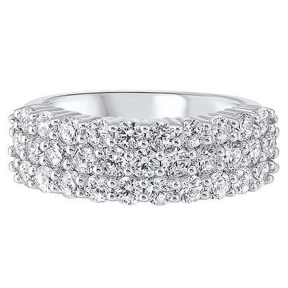14K White Gold 2 ctw Diamond Wedding Band