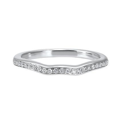 14K White Gold Diamond Wedding Band 1/6ctw