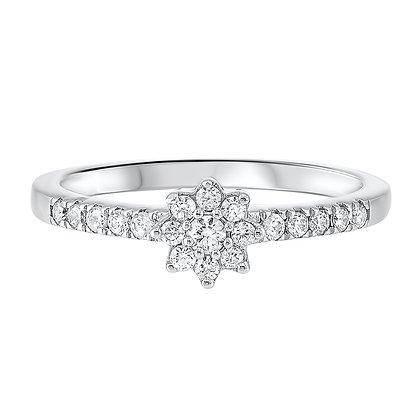 14K White Gold 1/3 ctw Diamond Ring