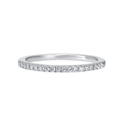 14K White Gold Diamond Wedding Band 1/8ctw
