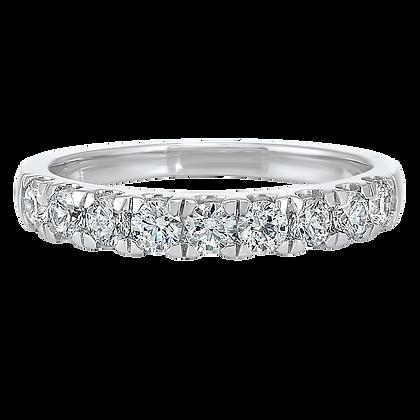 14K White Gold 3/4 ctw Diamond Wedding Band