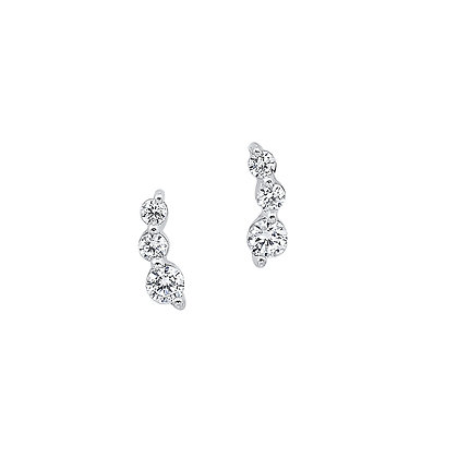 14K White Gold 1/6 ctw Diamond Fashion Earrings