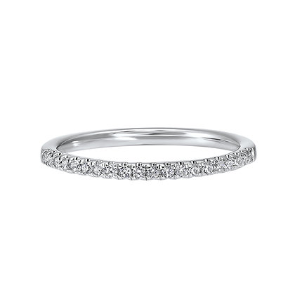 14K White Gold Diamond Wedding Band 1/6ctw