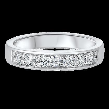 14K White Gold 1/2 ctw Diamond Wedding Band