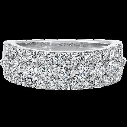 14K White Gold 1.5 ctw Diamond Wedding Band