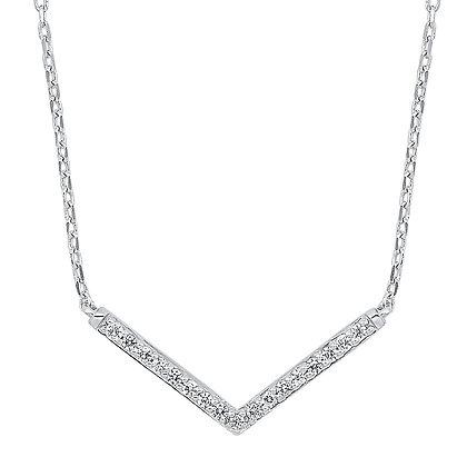 14K White Gold 1/10 ctw Diamond Pendant