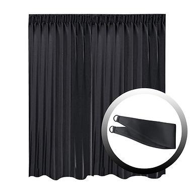 Blackout Curtain with 1 Tie, Black, 295x250cm