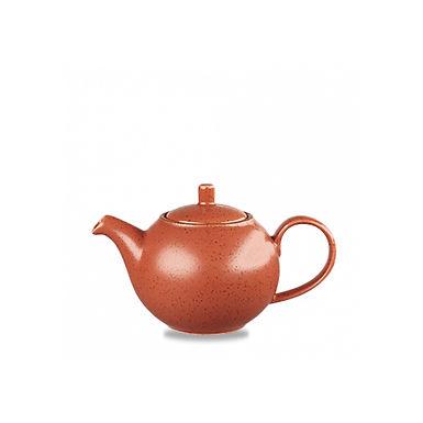 Teapot Churchill Stonecast, Round, Spiced Orange, 426ml