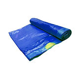 Garbage Bag Roll, 3 Layers, with Cord, Blue, 10pcs. of 52x75cm Bags