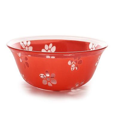 Bowl CoK Deco, Glass, Red, Ø12.5cm