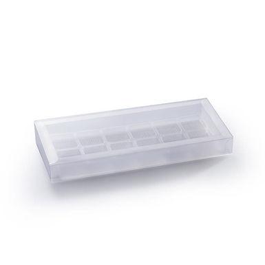 Glazed Glim Box with 12 Transparent Compartmen. Martellato, 25 pcs, 210x100x23mm