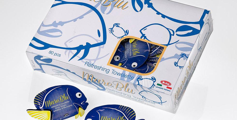 Blue Fish Wet Wipes in Display Box Leone, Lemon, 80 pcs, 11x8cm