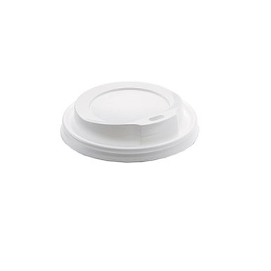 Disposable Paper Cup Lid, for 8oz Cups, White, Ø84mm