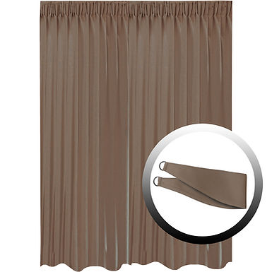 Blackout Curtain with 1 Tie, Dark Brown, 295x290cm